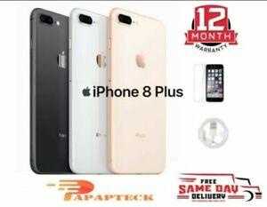 Apple iPhone 8 Plus Unlocked 64GB 256GB SIM Free Smartphone - All Colours