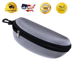 Slim Eyeglasses Glasses Hard Case with Hook Fits For Oakley Ray Ban Sunglasses