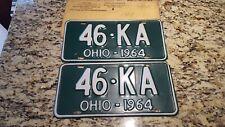 1964 Ohio License Plate Pair