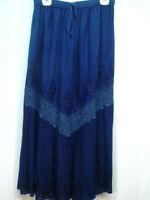Skirt Navy blue Old West Pioneer Boho Victorian Edwardian Ren Faire one size