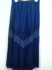 Skirt Navy blue Old West Pioneer Boho Victorian Edwardian Ren Faire one size