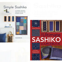 Ultimate Sashiko Sourcebook 2 Books Collection Set By Susan Briscoe Pack New