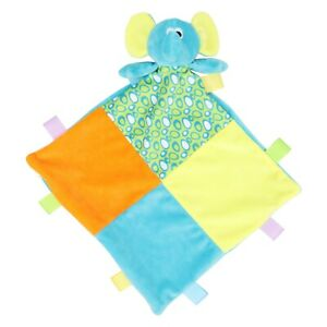 Baby Soft Comforter Taggy Taggie Tag Blanket Toy Rattle Boy Girl Gift Elephant