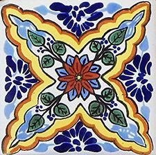 6 PCS Talavera 6X6 Handmade Ceramic Tile Mexican C327