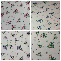 """Ditsy Floral Printed on white Super Soft Polycotton Fabric 45"""" Wide M542 Mtex"""