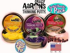"Easter Set 3 PACK 2"" tins Crazy Aaron's Thinking Putty bloom bunny ears cheep"