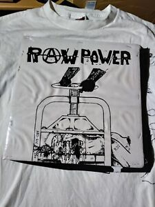 RAW POWER vice punk back patch  limited edition canvas DRI