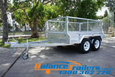 8x5 HOT DIP GALVANISED FULLY WELDED TANDEM TRAILER WITH 600MM REMOVABLE CAGE