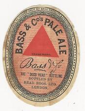 Vintage beer label, Read Brothers, BASS & Co's PALE ALE, London