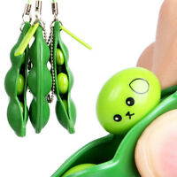 Squeeze-a-Bean Anti-Anxiety Fidget Stress Relief For ADHD keyring Pendant Toy