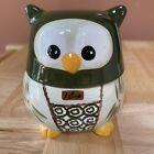 Temptations Old World Green Owl Nesting Measuring Cup Set Ceramic