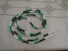 "VINTAGE Jump Rope 8"" 6""  Plastic Green White Black"