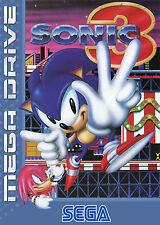 Sonic 3 Sega Mega Drive enmarcado impresión (Cueva de hombre Imagen Cartel Para Juegos Arte)