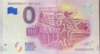 BILLET 0  EURO  MAASTRICHT MIF PAYS BAS 2018 NUMERO 5000 DERNIER