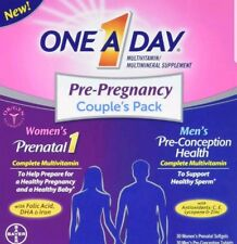 One A Day Pre-Pregnancy Couple's Pack Multivitamin (No Box)
