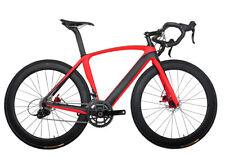 61cm Disc brake Carbon Bicycle Aero Road Bike Red 700C Frame Wheels Clincher 11s