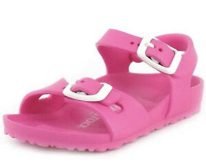 Birkenstock Size 33 (US 2) Rio Eva Narrow Fit NIB Neon Pink