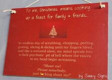Naughty F*ck Christmas Cooking - Sign Decorations Tree Lights Gift Cards Santa