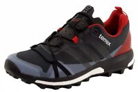 Adidas Men's Terrex Agravic Grey/Black/Red Trail Running Sneakers Shoes