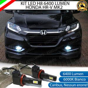 KIT FULL LED HONDA HR-V MK2 II LAMPADE H8 FENDINEBBIA CANBUS 6400 LUMEN 6000K