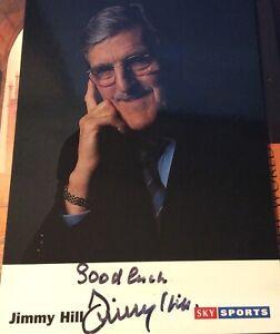 Rare Jimmy Hill  Sky Sports pundit  Genuine Signed Photo
