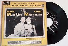 DECCA 45 RPM Record Ford 50th Anniversary TV Show: Mary Martin & Ethel Merman