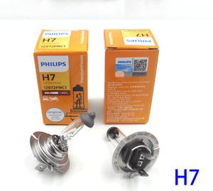 2x PHILIPS H7 Premium VISION Bright 12V +30% Halogen Headlight Lamp Bulbs 55w