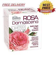 Bilka REJUVENATING Anti-Age Face Cream ROSA DAMASCENA 40ml +Free DELIVERY