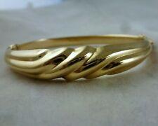 14K YG Hinged Vintage Bangle Bracelet 10.5 gr.