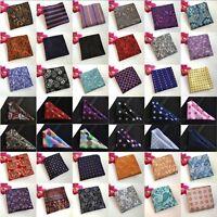 Men Paisley Floral Polka Dots Hanky Pocket Square Wedding Handkerchiefs HZ210
