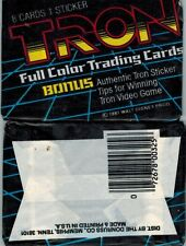 1981 DONRUSS TRON UNOPENED PACK OF CARDS & STICKER FROM A BOX