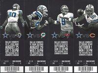 2012 NFL RAMS BEARS DOLPHINS BUCCANNEERS @ COWBOYS FULL UNUSED FOOTBALL TICKETS