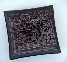 Vintage Kankakee ILL Federal Savings & Loan Historical Downtown Trinket Tray