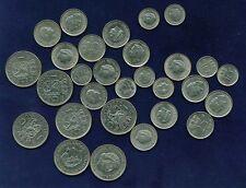 NETHERLANDS GULDEN COINS: 1968-1980, & 10 & 25 CENT COINS: 1948-1972! LOT OF 29!