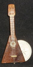 Dollhouse Miniature Mexican Wooden Lute 1:12 Music Musical Instrument #WI-1702