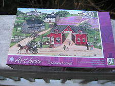 "Artbox Lavender Hill Farm 500 Piece Puzzle 18 1/4"" X 11"" New Sealed In Box"
