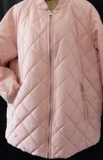 NEXT SZ 10 BLUSH OUTERWEAR SHOWER RESIST QUILTED ZIPPED COAT JACKET BNWT RRP £60