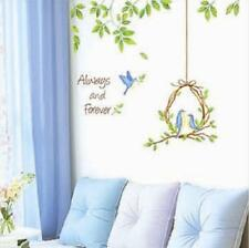 Love Blue Birds Nest Always And Forever Wall Sticker Decal Vinyl Art Home Decor