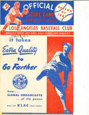 July 9 1947 Hollywood Stars Los Angeles Angels Scorecard