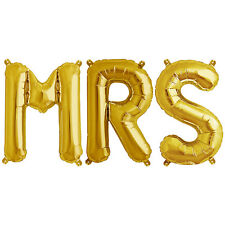 Party Supplies Gold 41cm Foil Letters Balloon 'MRS' Wedding Engagement