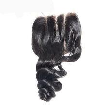 100%16 Inches Brazilian Virgin Human Hair LOOSE WAVE  Lace Closure 4x4 FAST SHIP