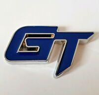 GT Badge for Audi Blue Silver Chrome Metal Emblem Quattro S-Line Coupe SUV Avant