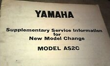 1969 ? YAMAHA AS2C  Motorcycle Factory Service Info Manual