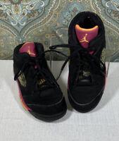 Jordan Girls Sneakers Size 10C High Tops Black Pink Orange Jordans Youth Child