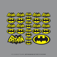 Sku2429-Set di 26 BATMAN LOGO Adesivi-Auto-VAN-NOTEBOOK - MOTO