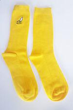 Banana Motif Socks Long Gift Hipster Size 5-8 UK Fashion Emoji 37-42 EUR Yellow