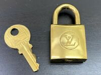 Louis Vuitton PadLock Lock & Key for Bags Brass Gold (Number random)