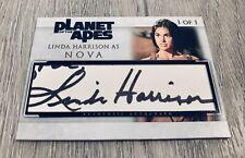 LINDA HARRISON PLANET OF THE APES NOVA SIGNED CUSTOM CUT AUTO SIGNED CARD #1/1