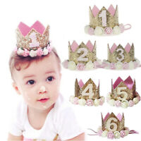 KQ_ Kids Girl Toddler Flower Crown Headband Hair Band Headwear Birthday Party We