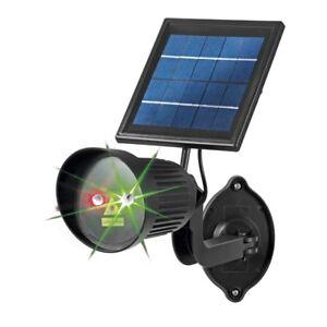 EASYmaxx Solar Laserstrahler Außenstrahler mit Lichtpunkten Laser Effekt Lampe